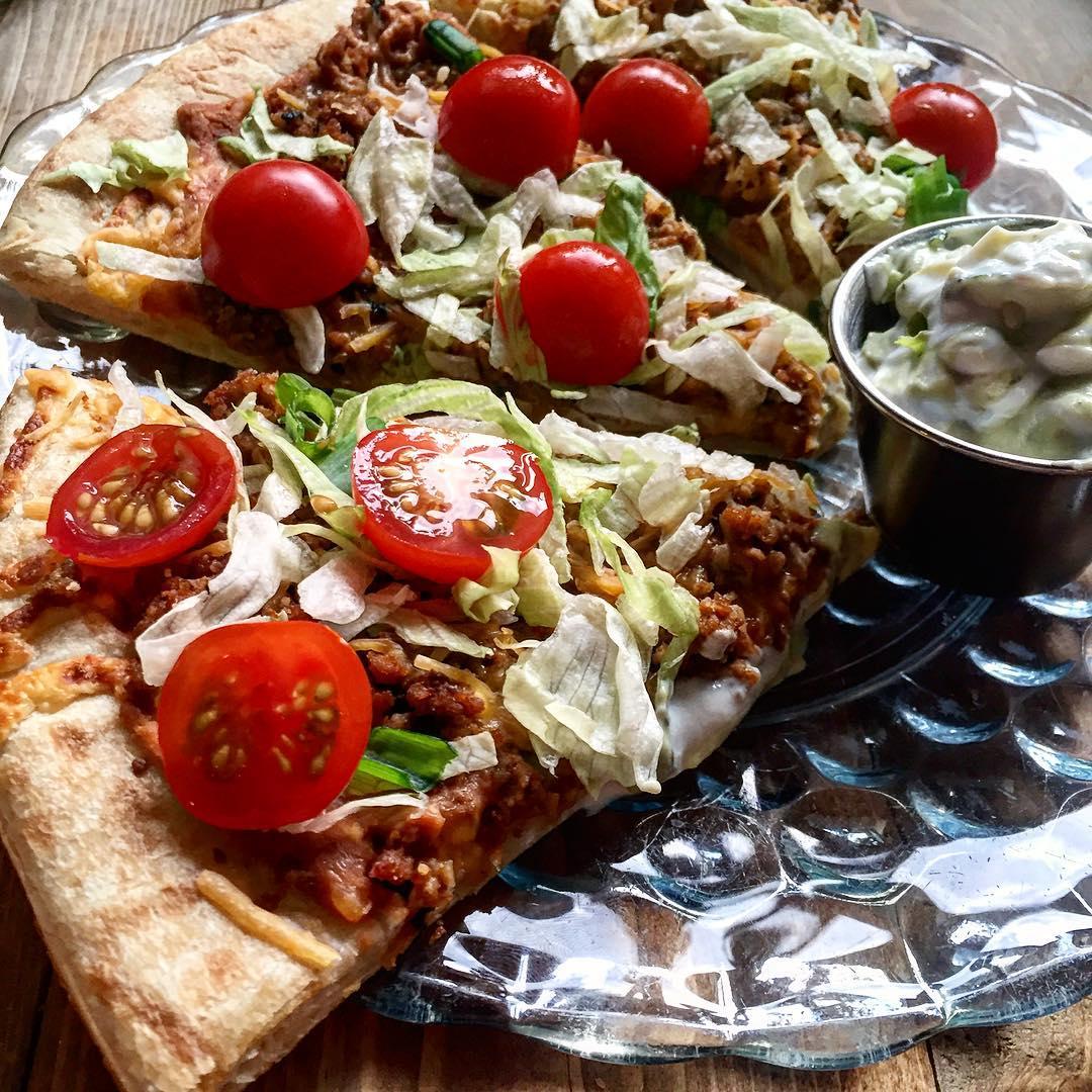 Taco Tuesday Meets Pizza Night. Three slice