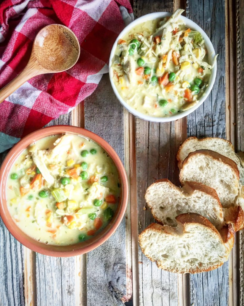 Lightened Up Chicken Pot Pie Soup