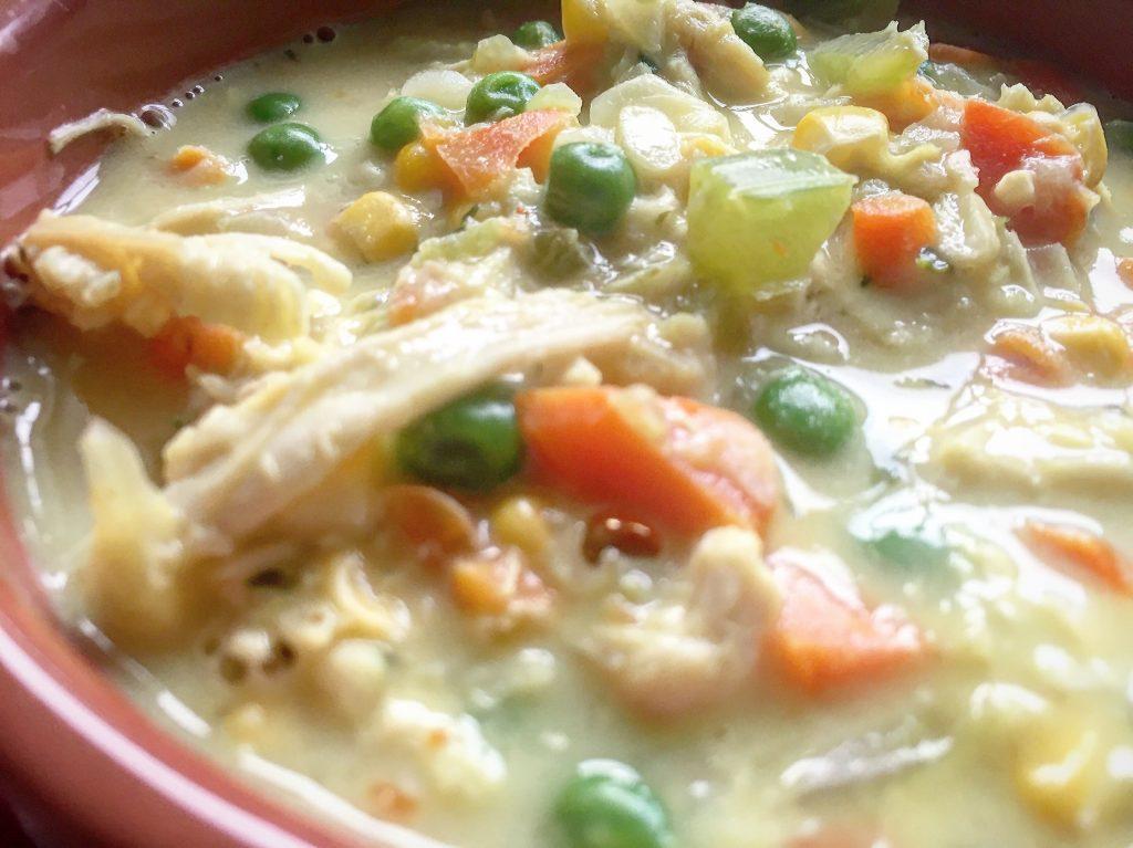 Lightened Up Chicken Pot Pie Soup