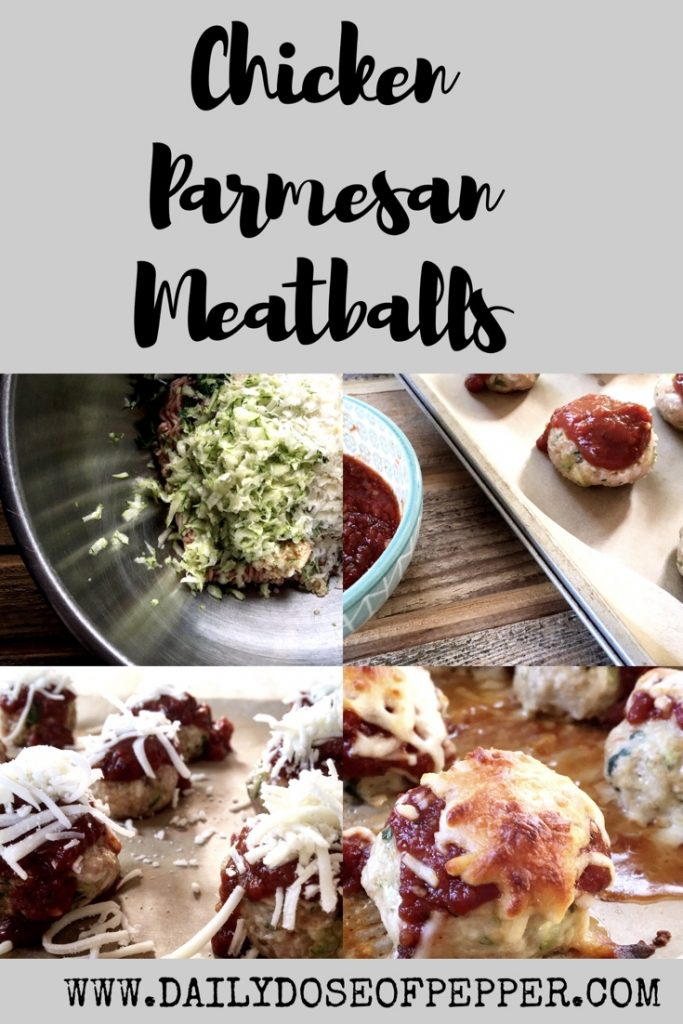 WW Friendly Chicken Parmesan Meatballs
