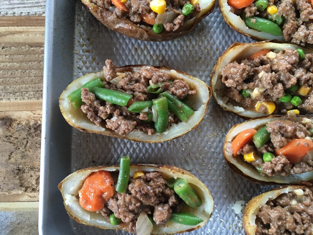 Shepherds Pie Potato Skins