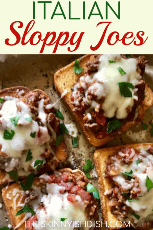 Sloppy Joes are an American classic for many generations, but when an American classic takes an Italian spin things get good!  Using lean ground beef and Italian flavors this is one of our favorite dinners and it will soon be yours too! #theskinnyishdish #italian #sloppyjoes #freestylesmartpoints #weightwatchers