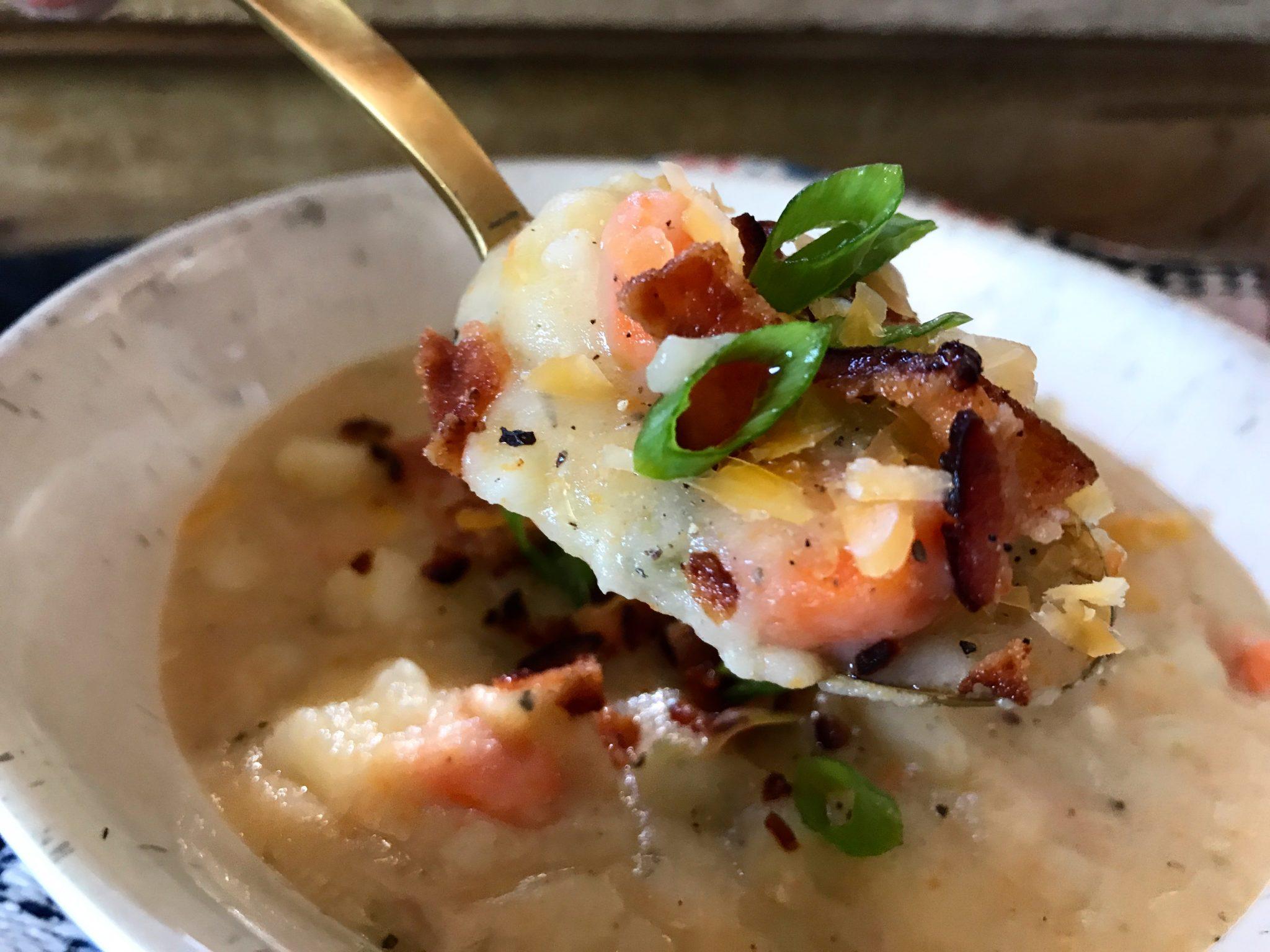Creamy Potato Soup (a hug in a bowl)