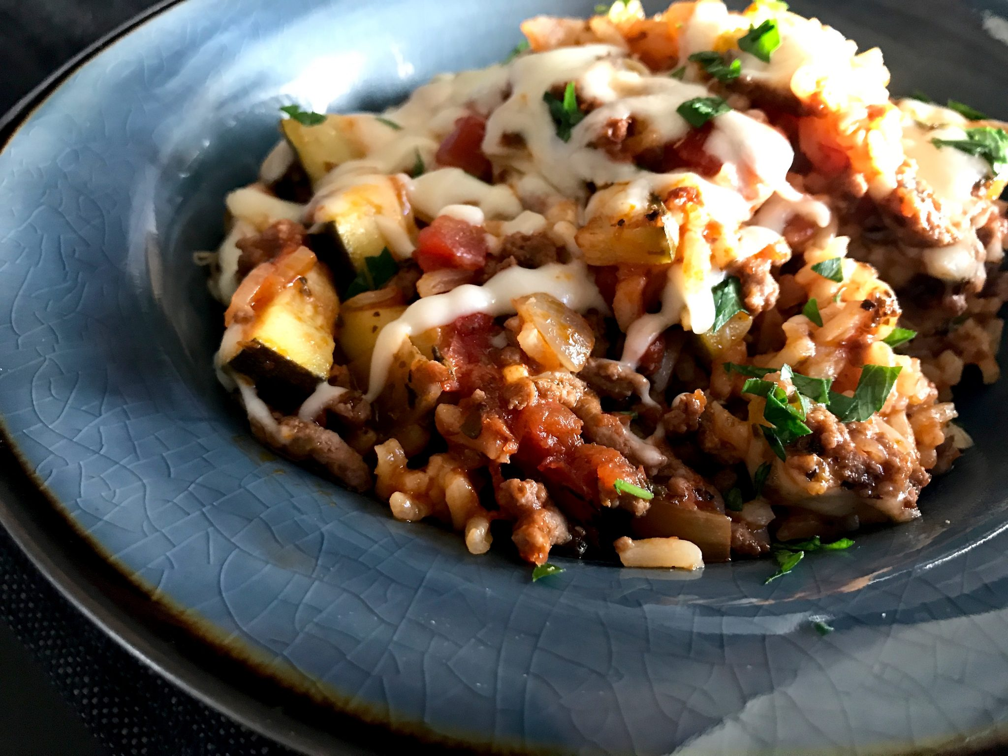 Cheesy Italian Rice Skillet