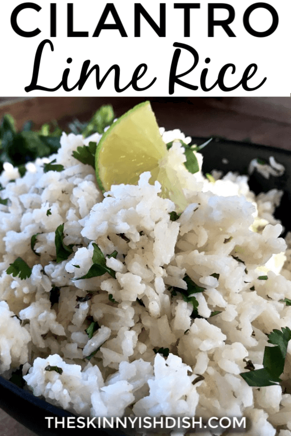 This Cilantro Lime Rice recipe is so quick and easy to make and pairs perfectly with my Chipotle Skillet Chicken for a bowl, burrito or tacos! #cilantrolimerice #chipotlerice #ww