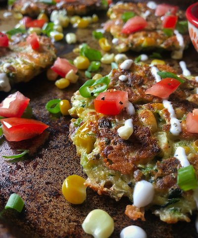 Zucchini, Corn, and Bacon Fritters