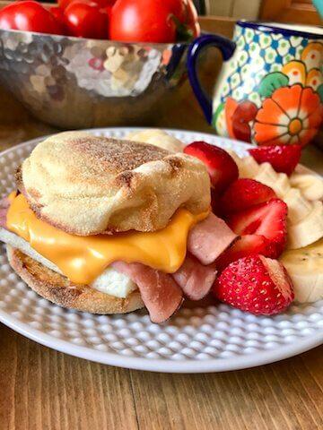 WW breakfast sandwich