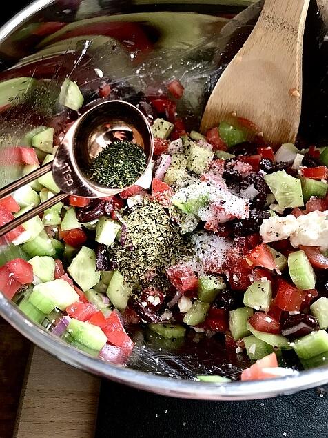 Greek Cucumber Salad - The Skinnyish Dish