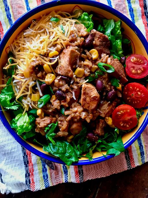 Instant Pot Chicken Burrito Bowls The Skinnyish Dish