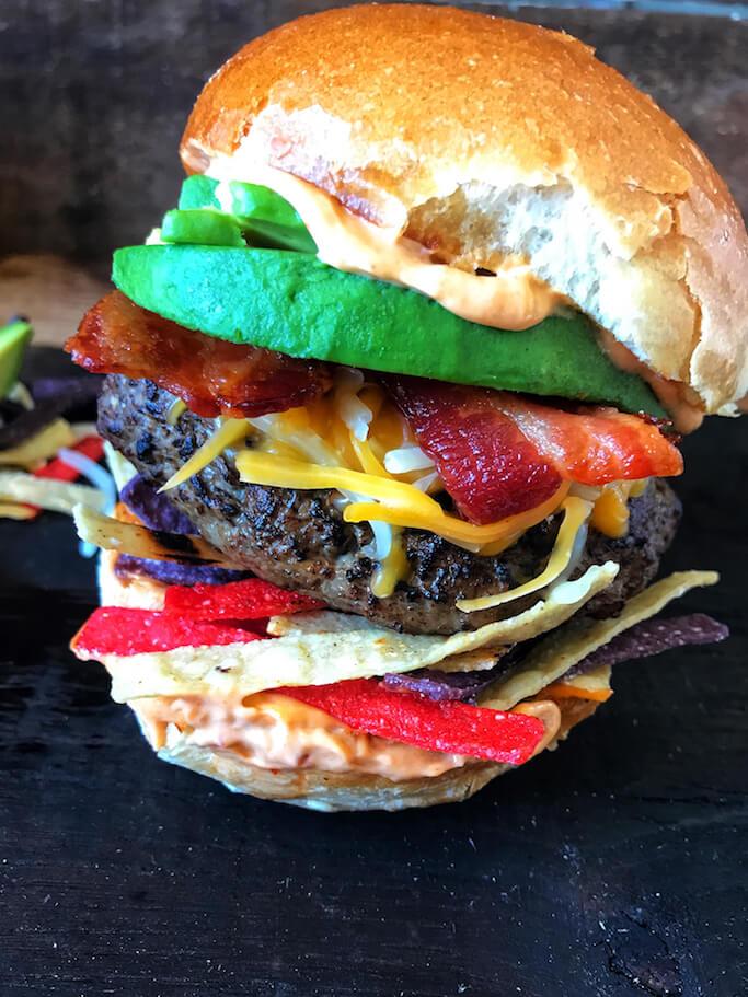 Southwest Blended Burger The Skinnyish Dish