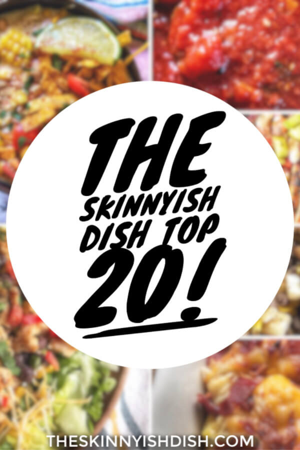 This collection of my Top 20 most popular recipes will provide you with many delicious and easy meals.  Whether you're searching for a breakfast, lunch or dinner they are all here!  Your favorite lightened-up comfort food faves that are WW friendly and are listed with points. Dig in! #top20recipes #wwfriendly #ww