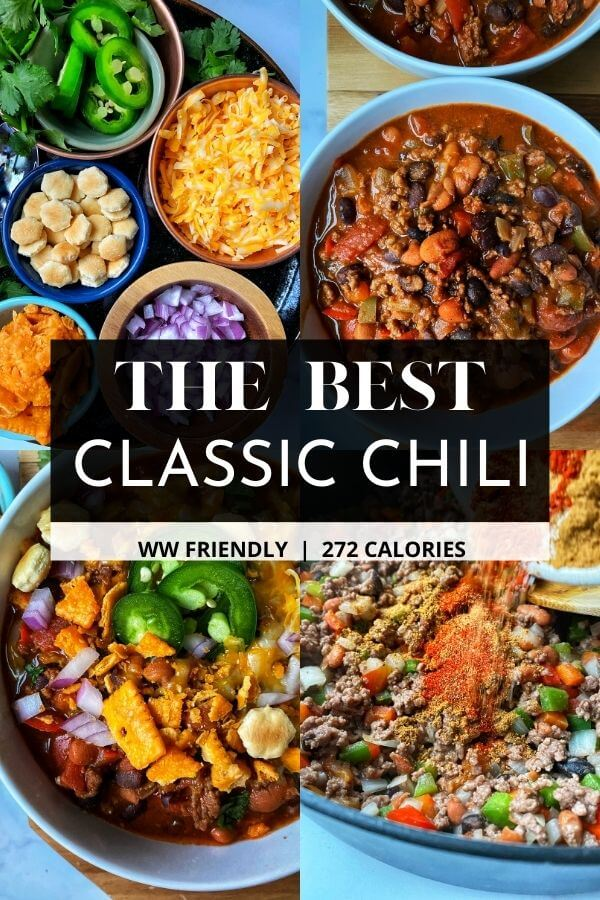 Best Classic Beef Chili The Skinnyish Dish