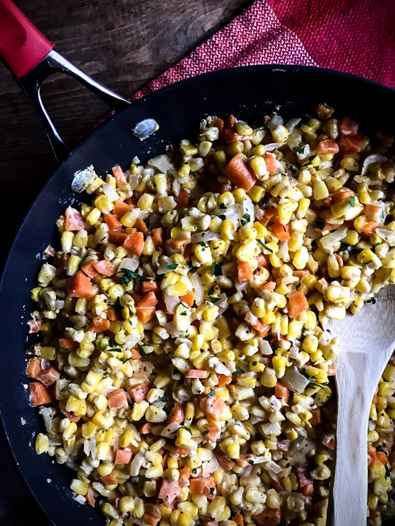 corn and carrot skillet